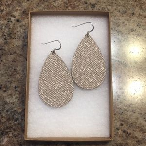 Nickel and Suede size small lipgloss earrings